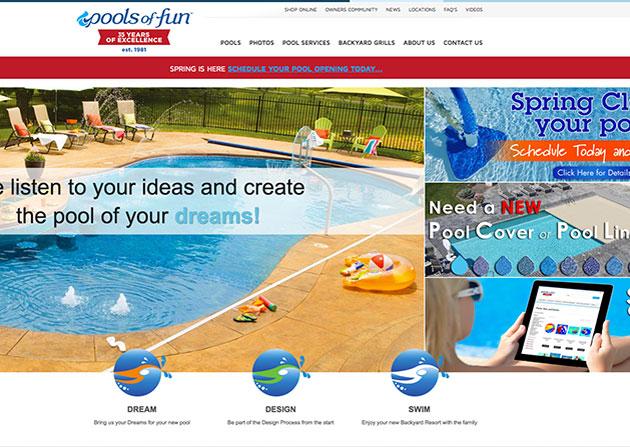 Pools of Fun Redesign