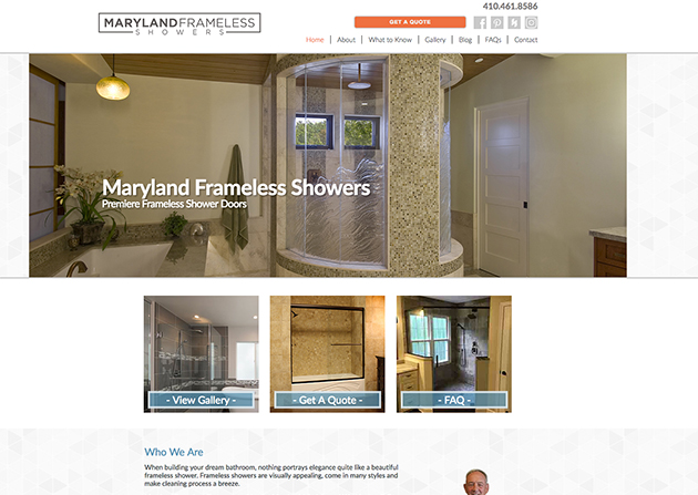 Maryland Frameless Showers