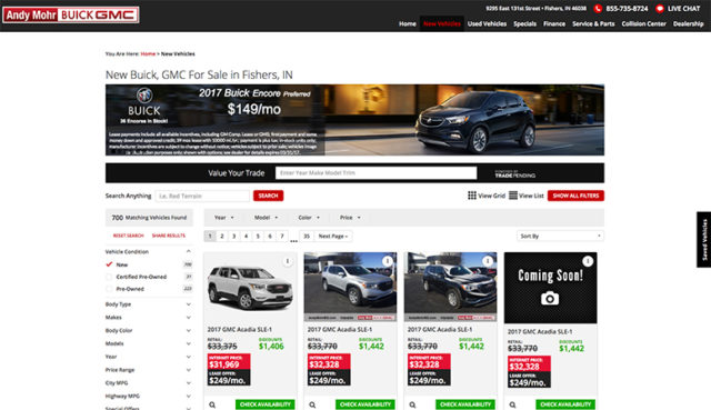 Andy Mohr Buick GMC – Email Marketing