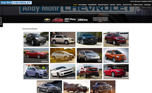 Andy Mohr Chevrolet- Email Marketing